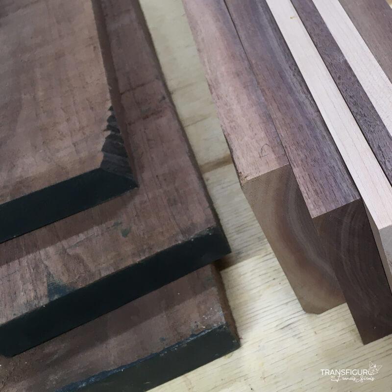 Morceaux de bois brut
