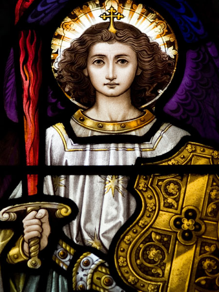 Archangel-Michael-stained-glass-Dublin