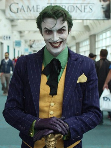 "Actor Anthony Misiano as ""The Joker"""
