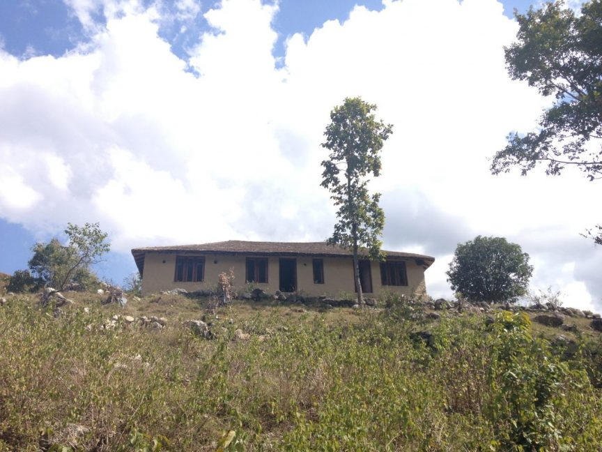 Aikta's mud house in Kumaon, Uttarakhand, India