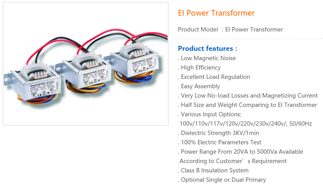 EI Transformator 1