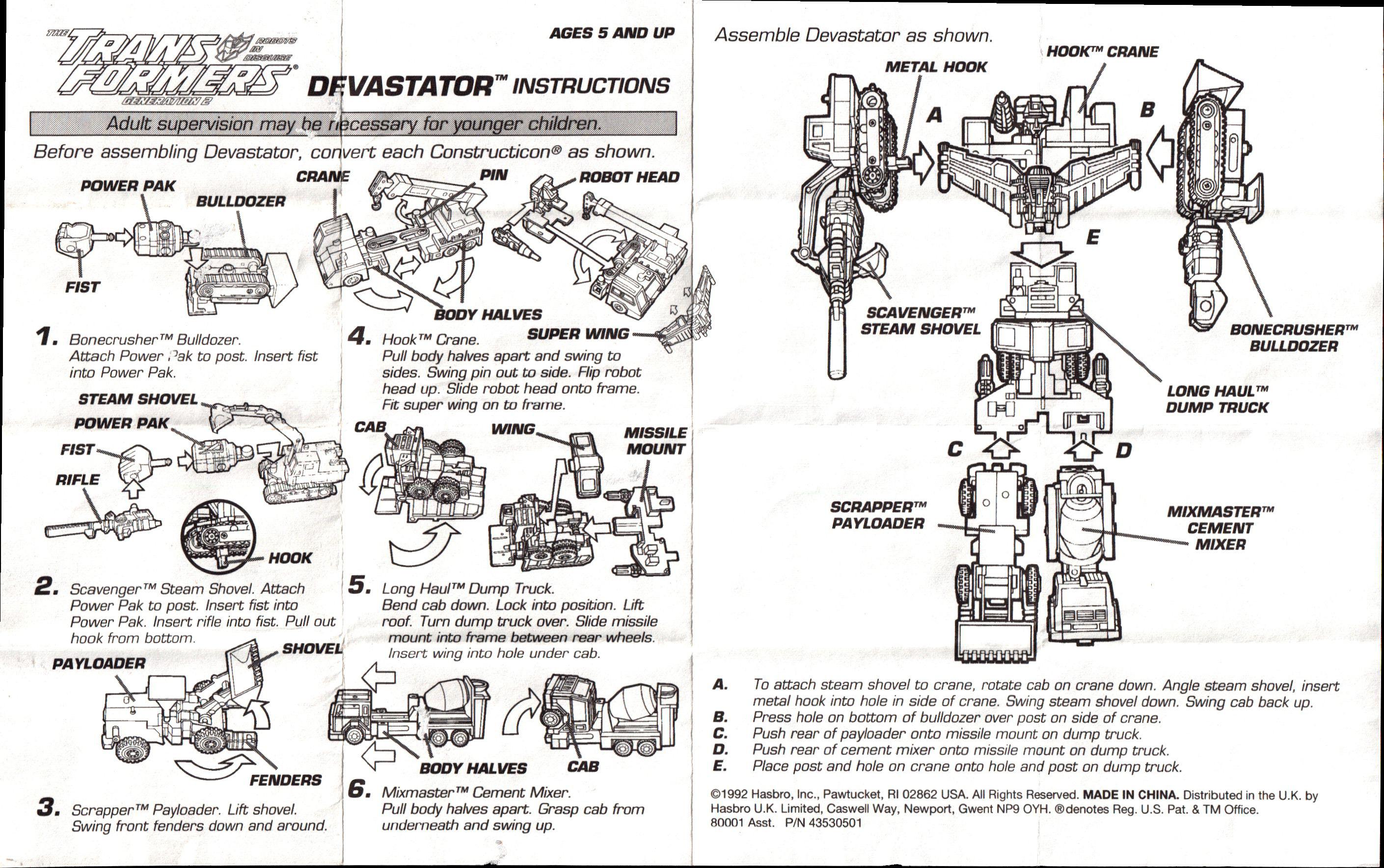 Constructicons (Devastator, G2, orange) Devastator (orange