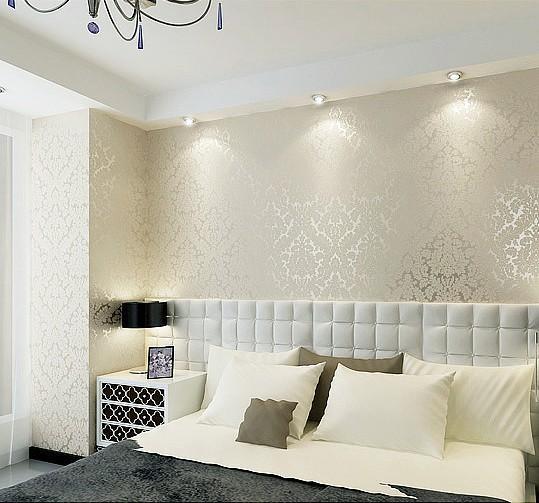papel de parede metalizado Papel de Parede Branco