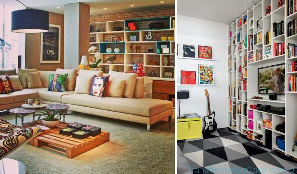 Estante para sala – Como escolher 7 dicas de decoração como decorar como organizar