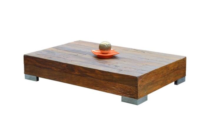 Mesa de centro de madeira de demolição – Como escolher (10) dicas de decoração fotos