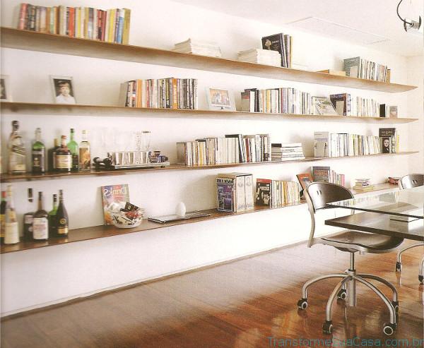Prateleira para livros – Como escolher (6) dicas de decoração como decorar como organizar