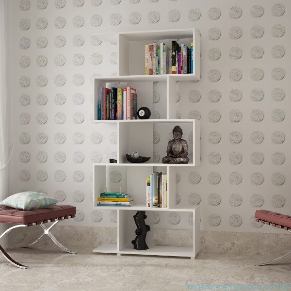 Prateleira para livros – Como escolher (9) dicas de decoração como decorar como organizar