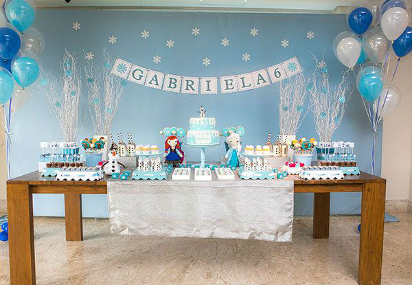 festa frozen decoracao