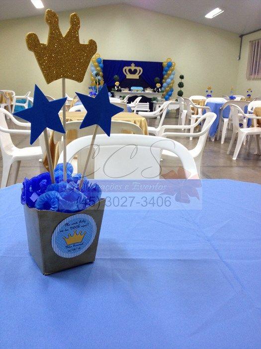 Festa Pequeno Príncipe: decoração do salão e mesa dos convidados