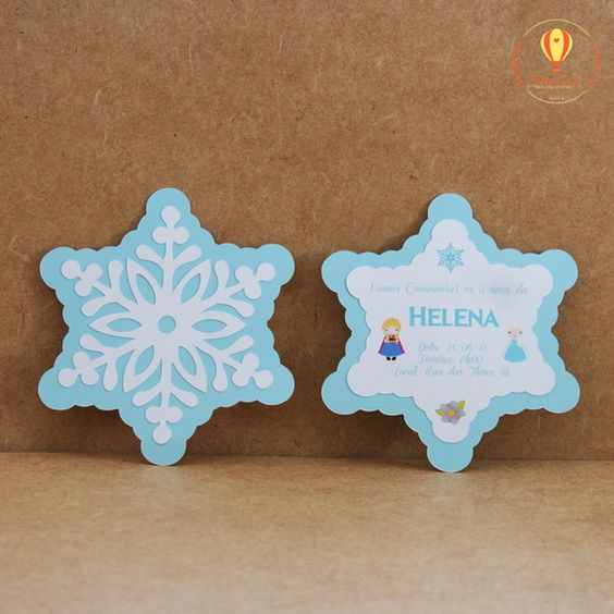Decoração da Frozen: lembrancinhas e convites