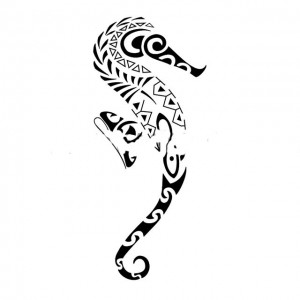 tatuagens Maori Cavalo Marinho