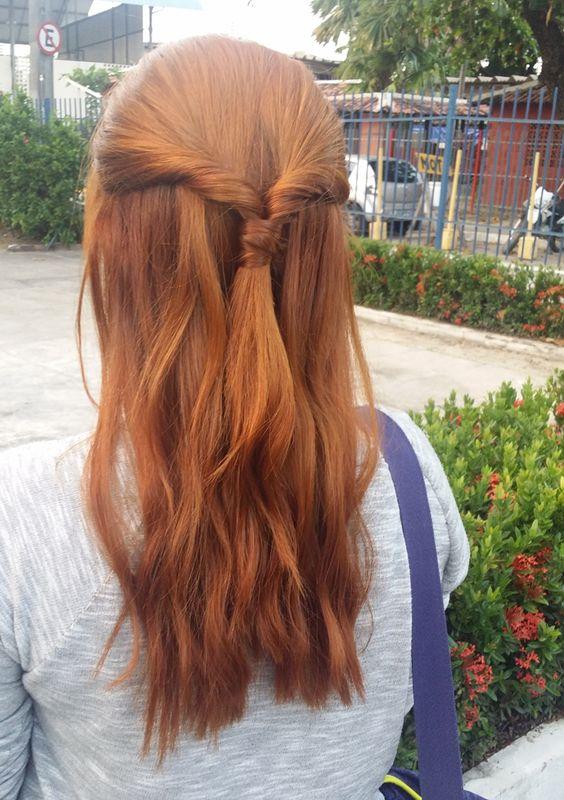 cores de cabelo feminino Ruivos laranja