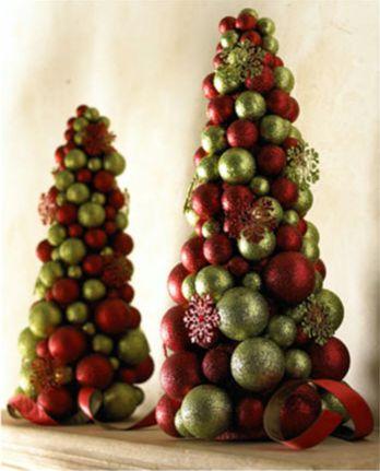 arvore de natal artesanal bolas