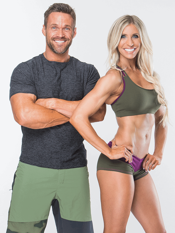 Chris and Heidi Powell standing next to each other