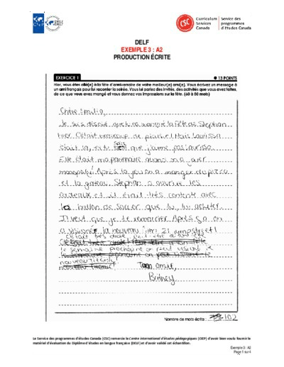 "Image du document ""Exemple 3 : A2 écrites"""
