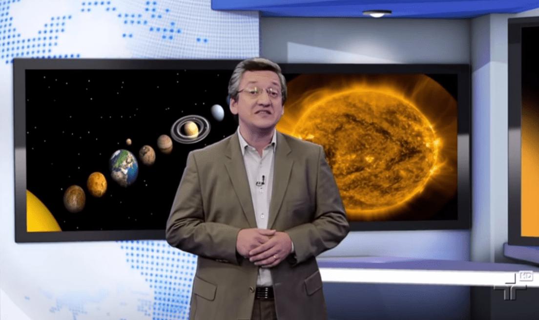 Matéria jornalística da TV Cultura, mostrando as alterações do nosso sistema solar