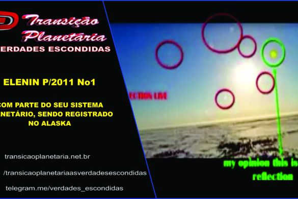 ELENIN SENDO REGISTRADO NO ALASKA, COM PARTE DO SEU SISTEMA PLANETÁRIO.