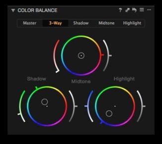 Colour Balance editing.