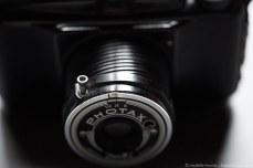 Boyer Photax IV-F Bakelite Camera with screw threaded retractable lens.