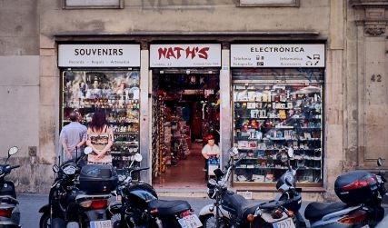 Tourist shop, Las Ramblas, Barcelona.