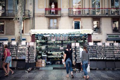 Tourist flower shop, Las Ramblas, Barcelona