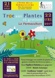 Troc aux Plantes et graines 22 avril à Lamastre