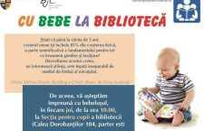 """,,Cu bebe la bibliotecă"""", lecturi pentru părinţi şi bebeluşi"""