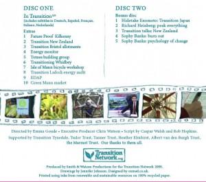 Obal DVD In Transition zadní strana