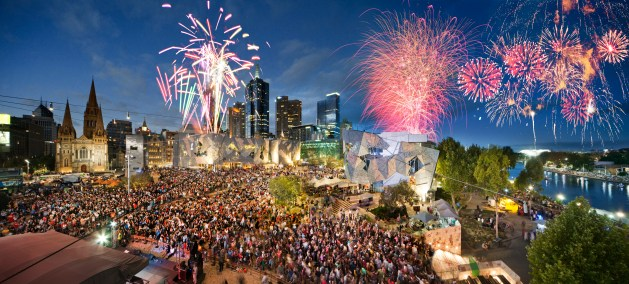 The Federation Square full of life..