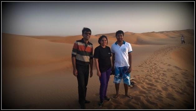 We bloggers (Manjulika, Mithun & I) wait for the sunset...
