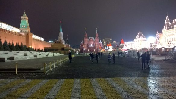 Red Square (with the State Historical Museum in straight, the Kremlin on the left and Gum Store on the right)