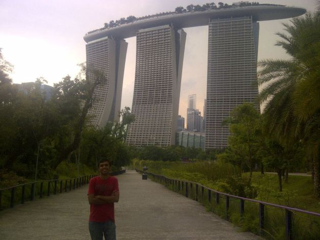Marina Bay Sands - right opposite to Gardens by the Bay