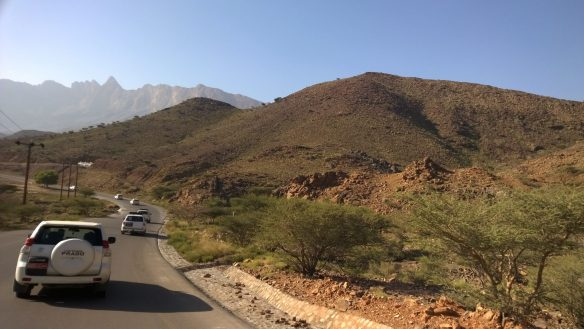 On the way back from Jebel Shams