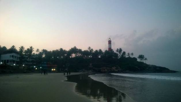 Kovalam - An epitome of tranquility as the first lights of the day brighten the sky