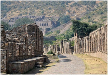 The double storey rooms at Bhangarh Fort
