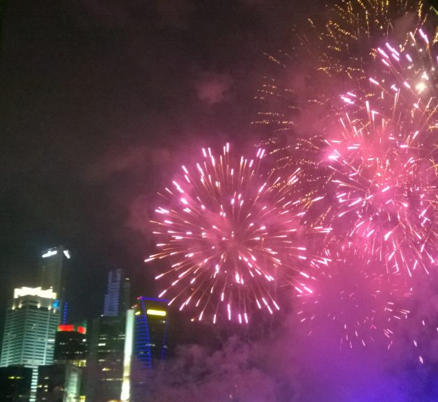 New Year 2014 Singapore: Fireworks