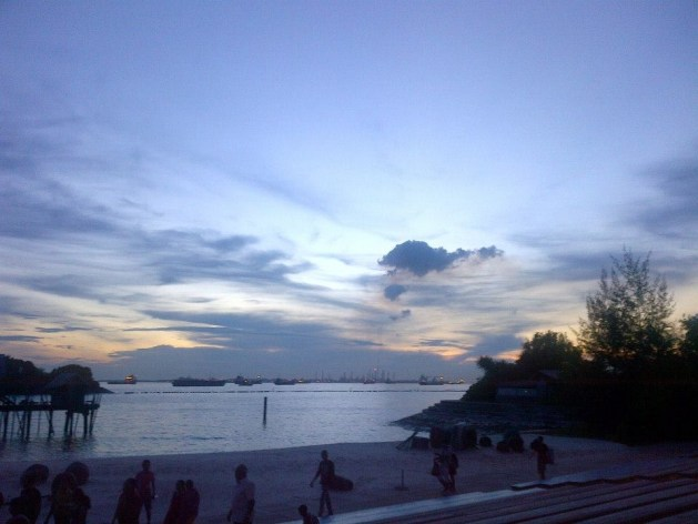Skywatch Friday: Dusk at Sentosa Island, Singapore
