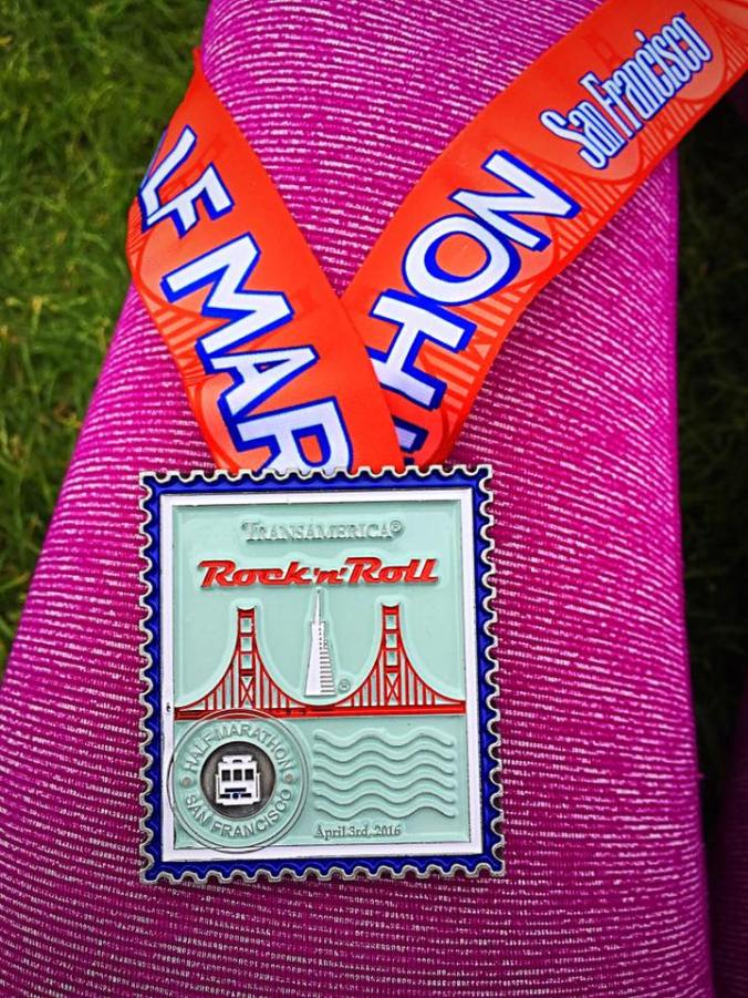San Francisco Rock 'n' Roll Half Marathon Medal