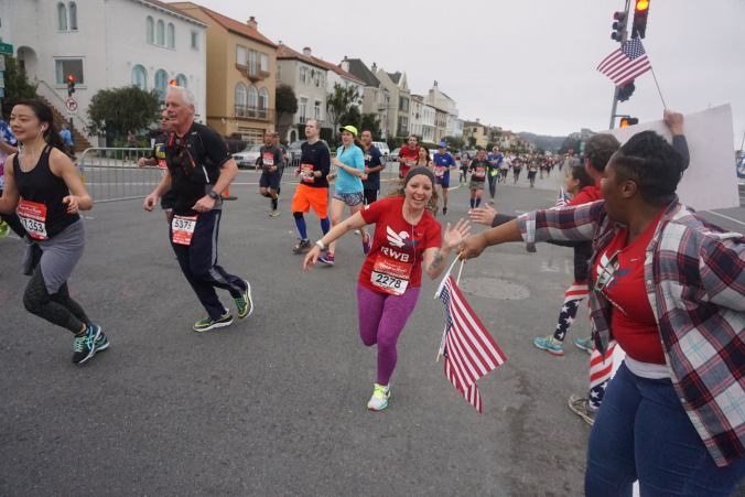 San Francisco Rock 'n' Roll Half Marathon Team RWB cheer station