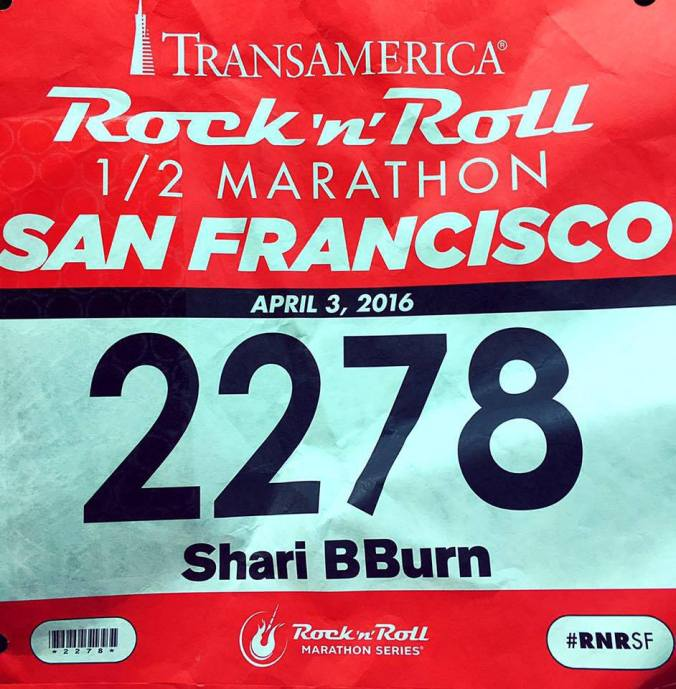 San Francisco Rock 'n' Roll Half Marathon Race Bib