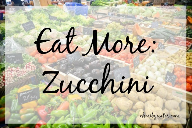 A logo from Living Laboratory's fitness nutrition blog on eating more zucchini.