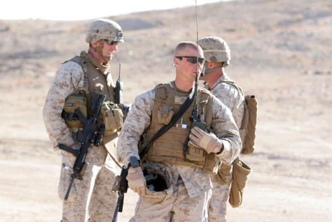 Jason Blydell in Marines