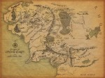Map of Middle-earth, from Tolkien Lord of the Rings