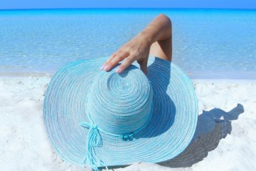 Skin care tip: Wearing a large hat outside can eliminate harmful UV rays from reaching your face and scalp.