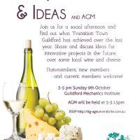 TTG Wine, Cheese & Ideas, plus AGM