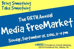 Fifth Annual Media Free Market! @ Providence Friends Meeting House | Media | Pennsylvania | United States