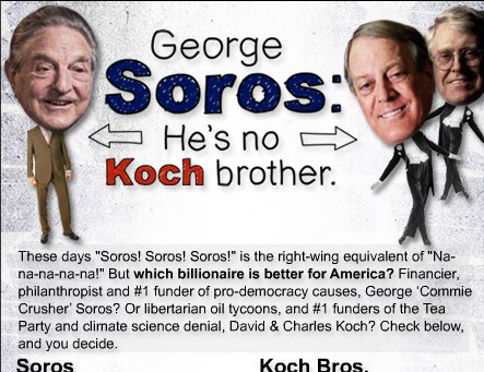 Soros vs the Koch brothers scorecard