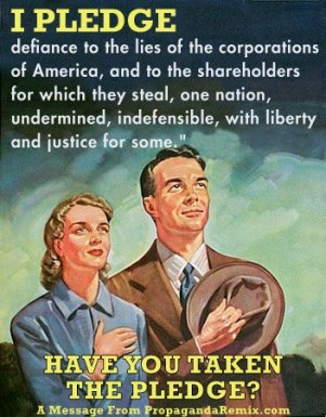 corporate pledge of allegiance poster