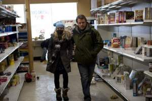 "Anna Jacoby-Heron and Matt Damon in ""Contagion"""