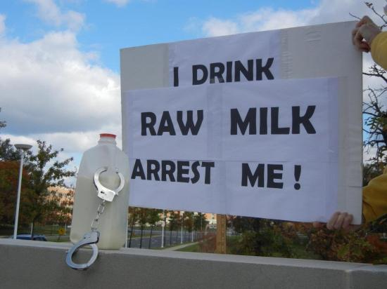 raw milk protest sign
